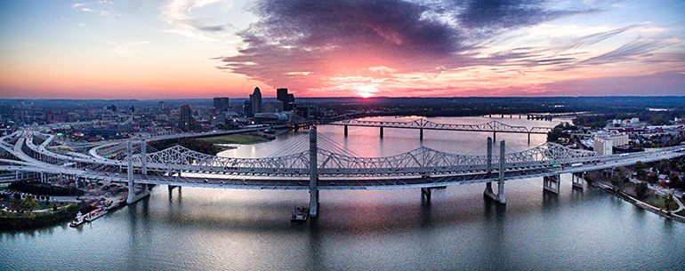 aerial photography louisville downtown best
