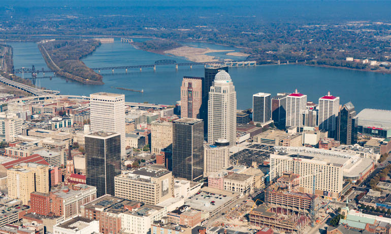 aerial photography helicopter louisville